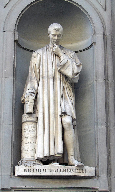 ニッコロ・マキャヴェッリ像