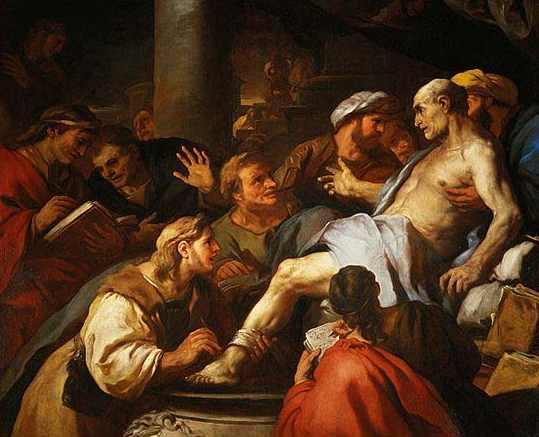 『セネカの最期』(ルカ・ジョルダーノ画、1773年)