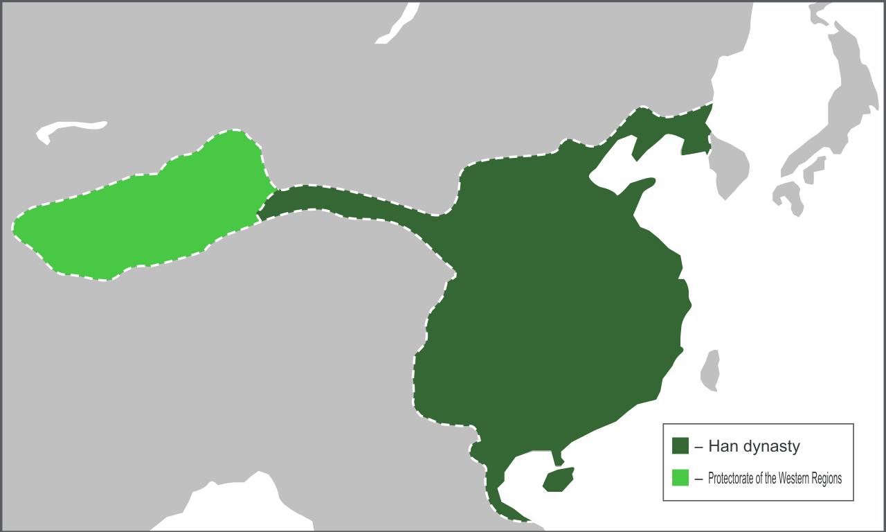 前漢の領域