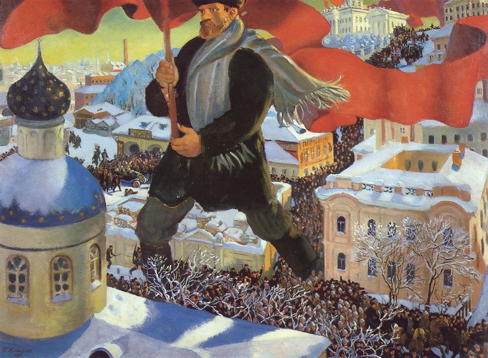 『ボリシェヴィキ』 ボリス・クストーディエフ(1920年)