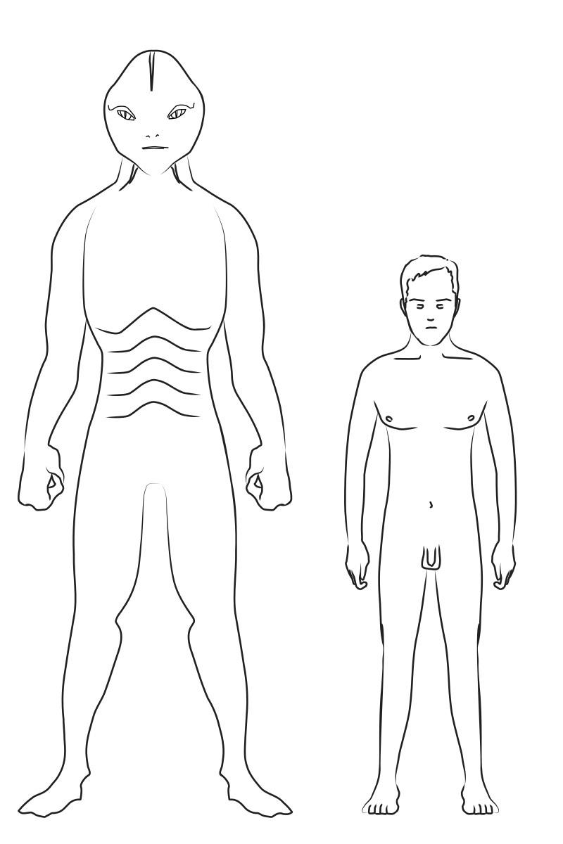 ヒト型爬虫類の想像図