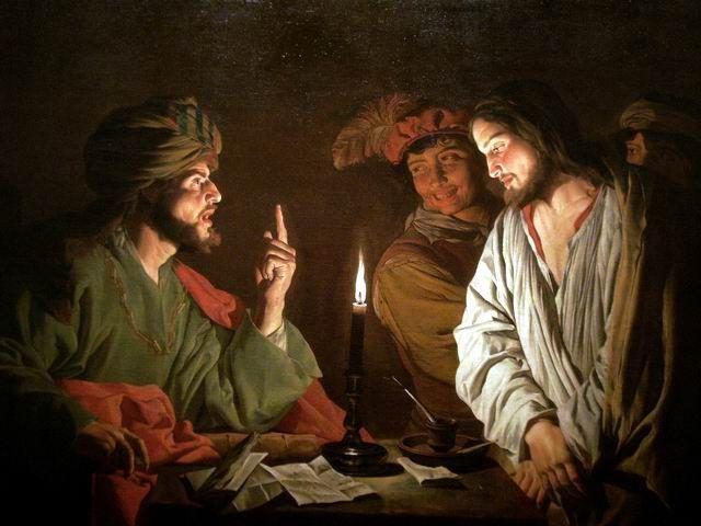 『カイアファの前に立つキリスト』 マティアス・ストム