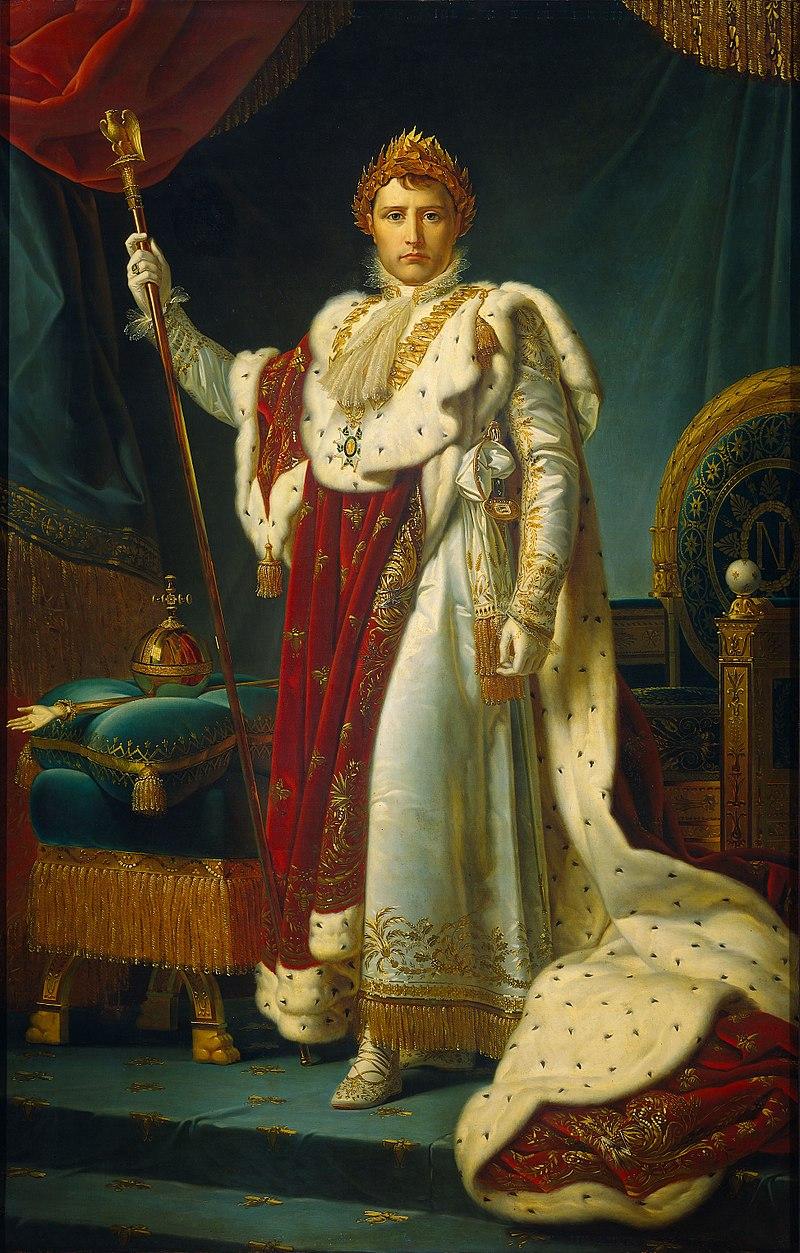 『戴冠式の正装の皇帝ナポレオン』 フランソワ・ジェラール