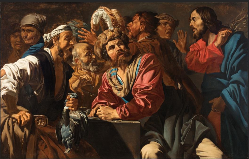 『両替商を神殿から追い払うキリスト』 マティアス・ストム