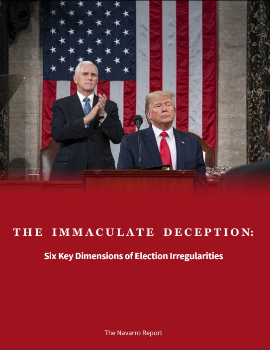 『THE IMMACULATE DECEPTION:Six Key Dimensions Election Irregularities』 The Navarro Report