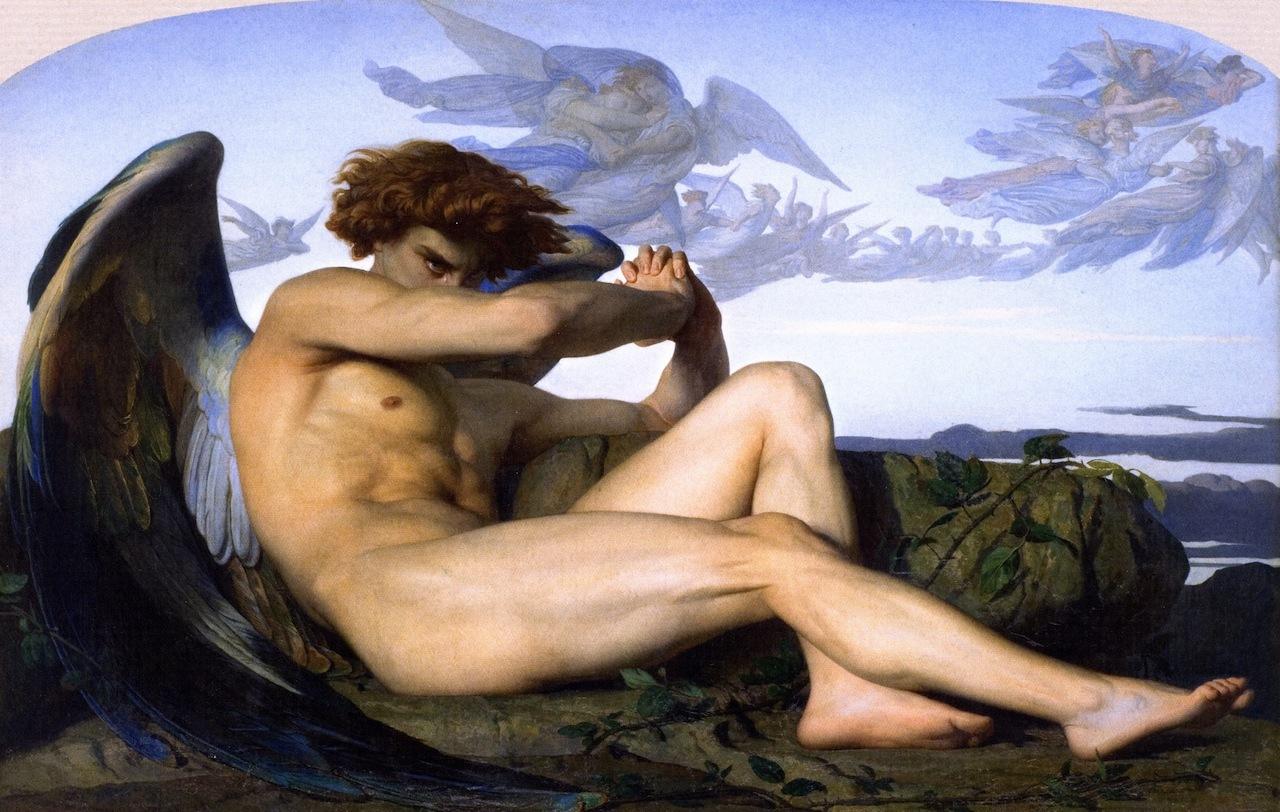 『堕天使』 アレクサンドル・カバネル(1868年)