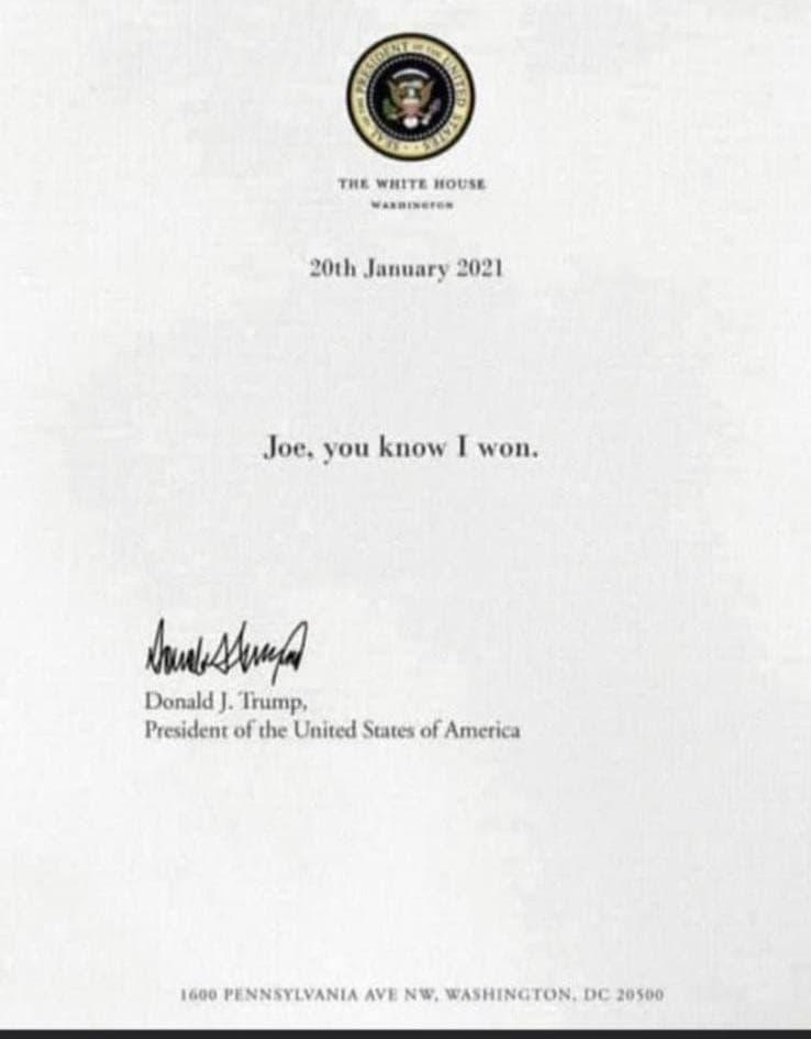 トランプ大統領からのお手紙photo_2021-01-21_02-53-36