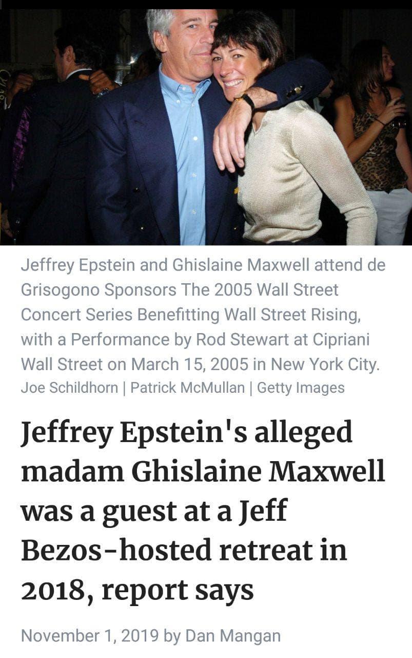 Ghislaine Maxwell、Jeff Bezos