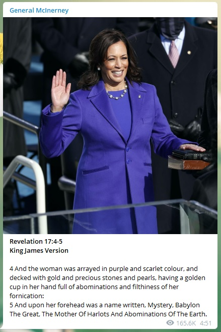 the woman was arrayed in purple and scarlet colour