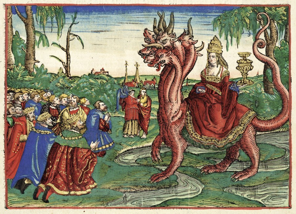 大淫婦バビロン。マルティン・ルターが1534年に翻訳した新約聖書にて。