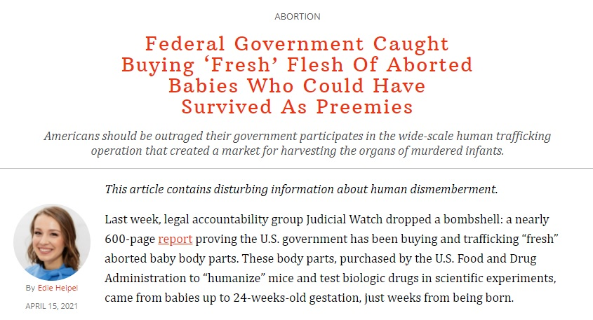 FDA Caught Buying Fresh Aborted Baby Body Parts From Dealer2