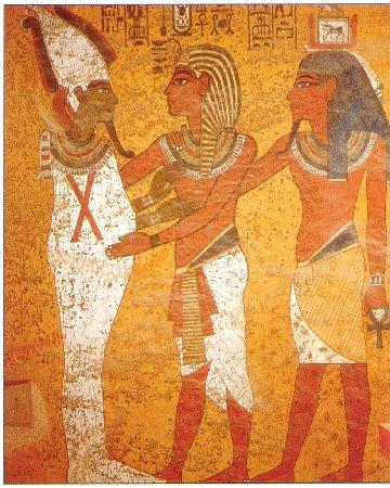 ツタンカーメン王墓に描かれるオシリスとツタンカーメン