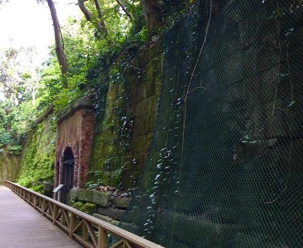 トンネル手前