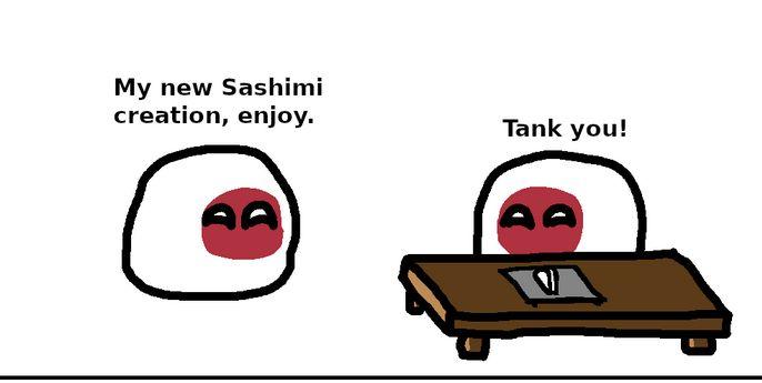 【日本】新しい魚を試すよ【ポーランドボール】