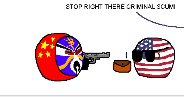 【中国】捕まえられないよ【ポーランドボール】