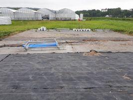 【写真】すべて運び込まれた4連棟の土袋保管場所の跡