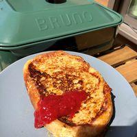 【写真】手作りジャムをのせたフレンチトースト