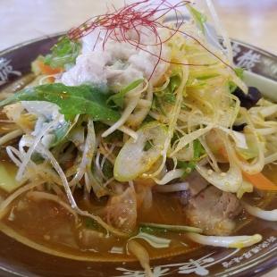 東横紫竹山 辛葱野菜味噌ラーメン 具