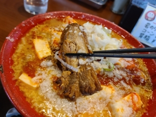 ちゃーしゅうや武蔵女池 辛味噌麻婆麺 チャーシュー