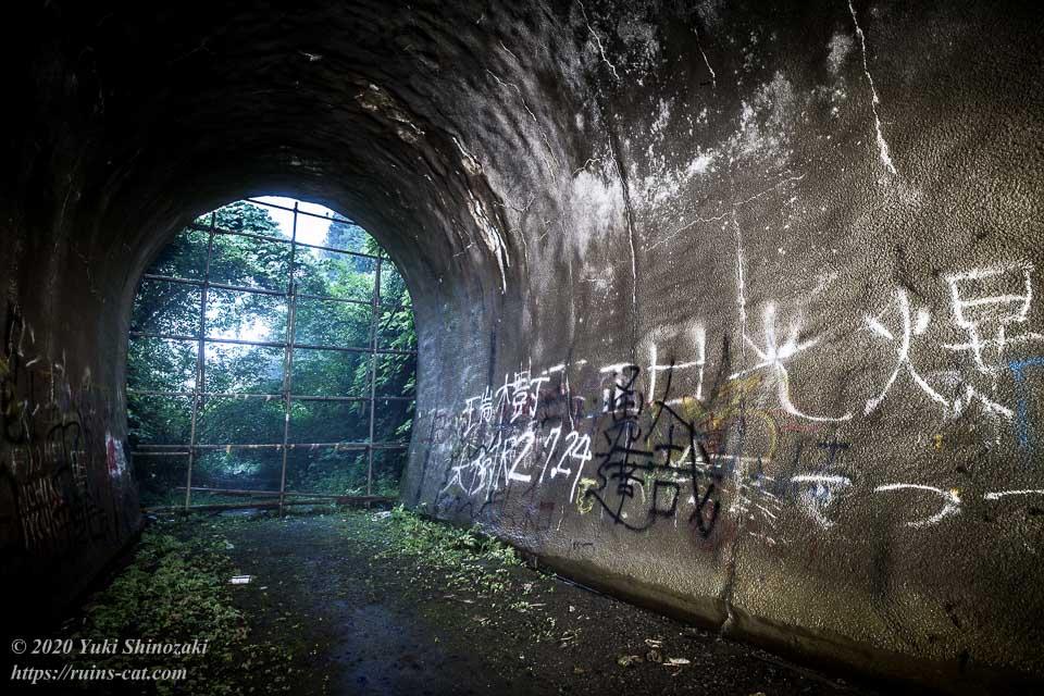 矢板トンネル(弥五郎坂トンネル・心霊スポット) トンネル内 出入口付近