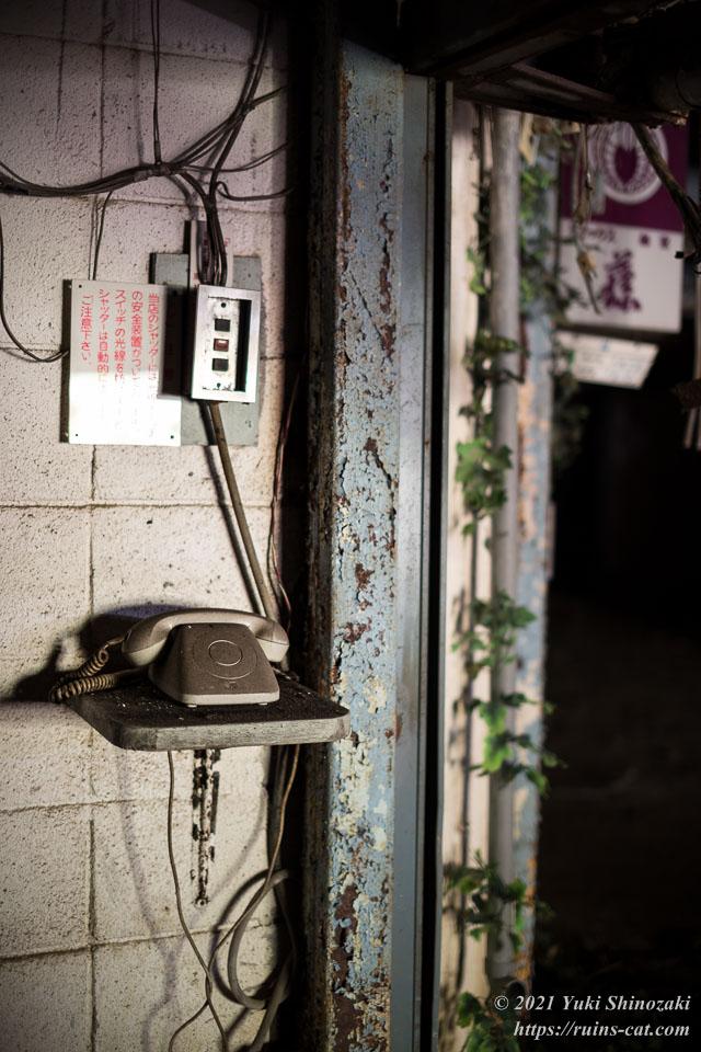 ガレージの開閉ボタンと内線電話