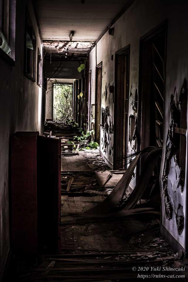 小川脳病院(心霊スポット) 精神病患者の隔離病棟の廊下