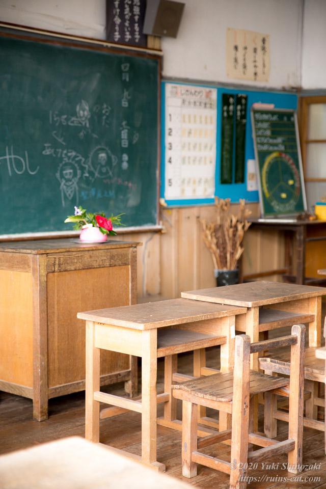 旧上岡小学校 教室内