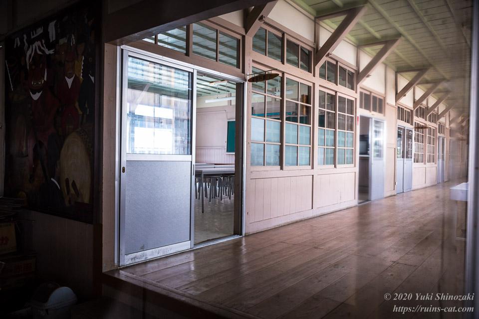 旧粟代小学校 新校舎内部