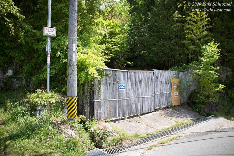 藤岡病院(心霊スポット) 住宅街側の入口付近