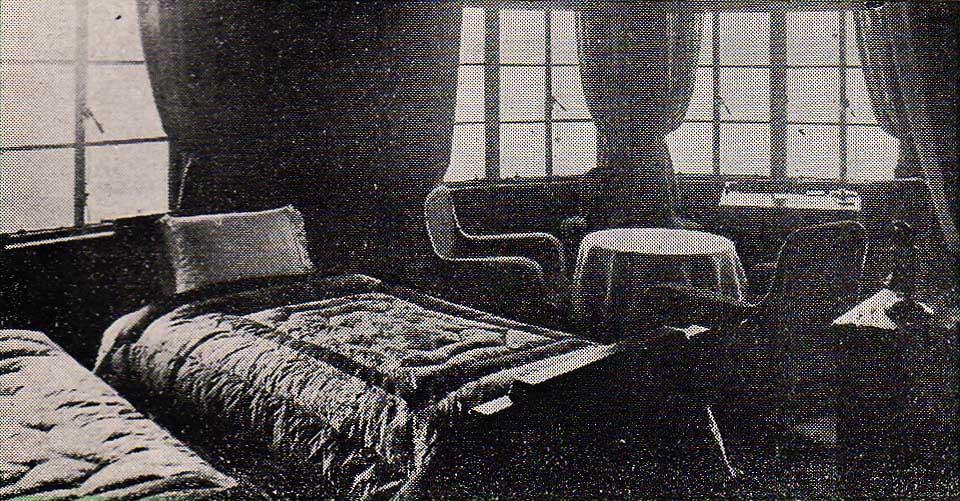 摩耶観光ホテルの現役時の洋客室の様子