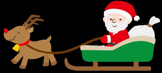 サンタクロースとトナカイ