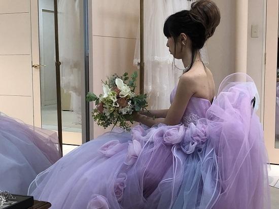 ぴんくドレス