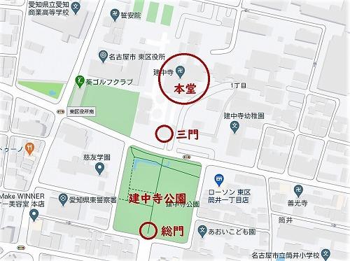 建中寺付近地図