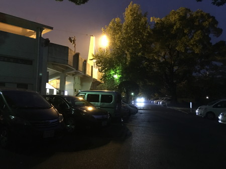 IMG_75495時35分頃の水前寺球場駐車場付近