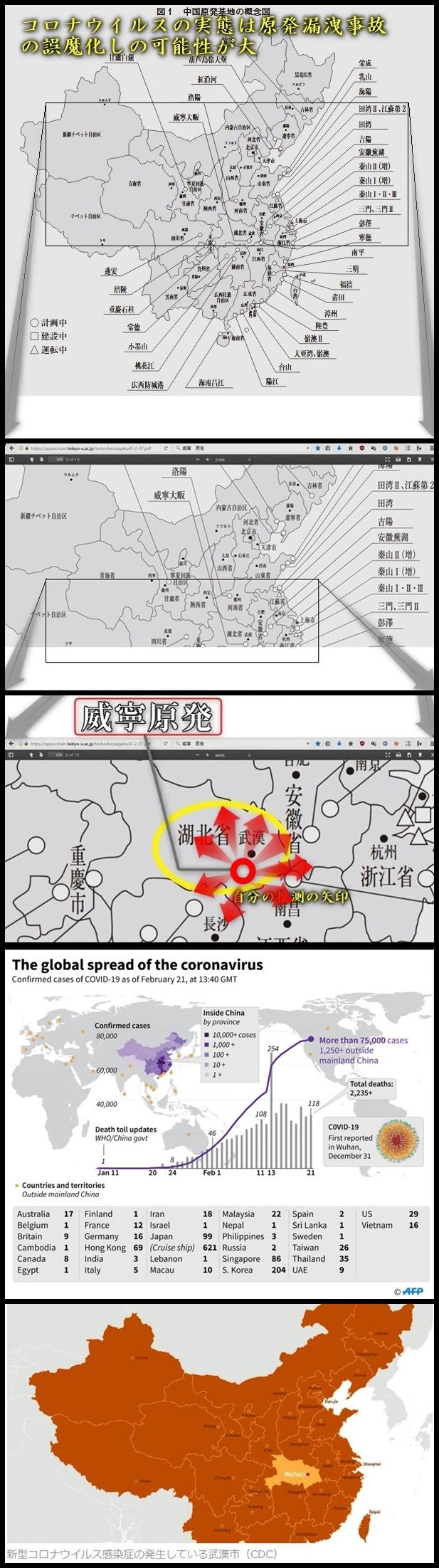 コロナウイルスの実態は原発事故の誤魔化しの可能性が大 ウイルス=放射線