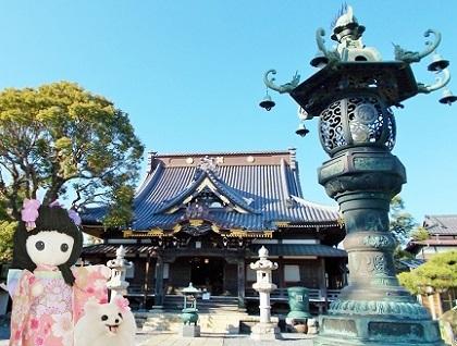 枝垂れ桜の小さなお寺です