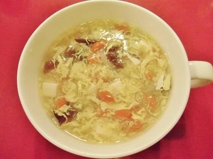 きくらげの卵スープです