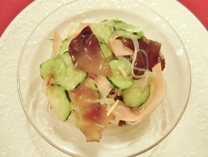きくらげと春雨の中華風サラダです