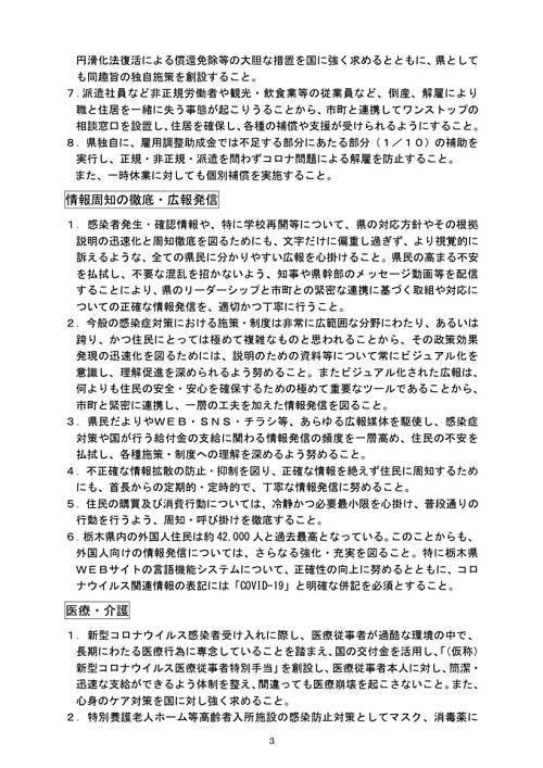 新型コロナウイルスに関する野党5党による栃木県への緊急要望!⑥