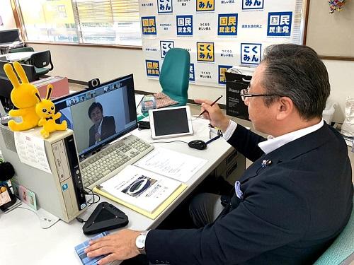国民民主党<拡大総務会>にWEB参加!①