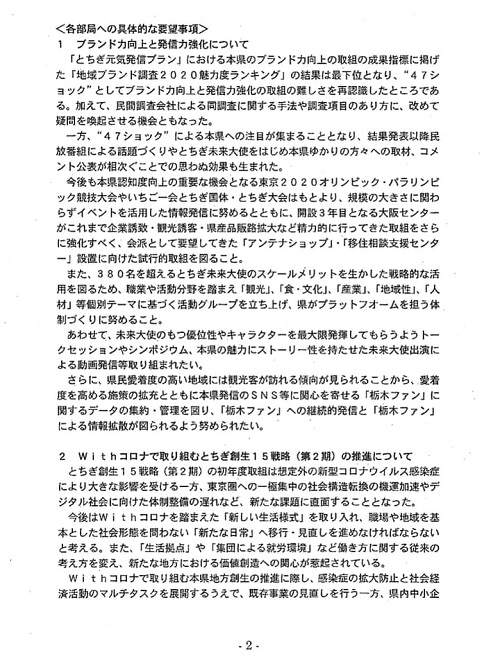 栃木県議会「民主市民クラブ」2021年度_当初<政策推進・予算化要望>知事に申し入れ!⑤