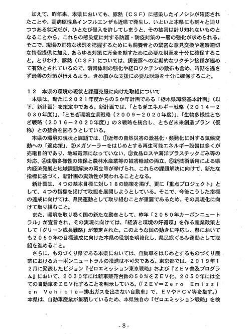 栃木県議会「民主市民クラブ」2021年度_当初<政策推進・予算化要望>知事に申し入れ!⑪