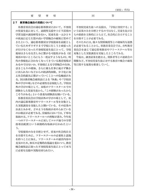 栃木県議会「民主市民クラブ」2021年度_当初<政策推進・予算化要望>知事回答!33