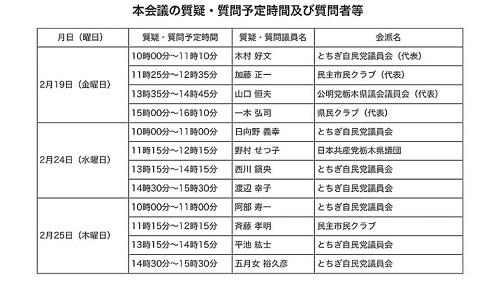 栃木県議会<第372回 通常会議>始まる!②