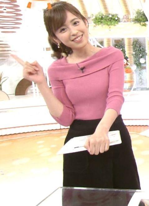 小ぶりでも形の良さそうなニットおっぱいも可愛い久慈暁子!! (7)