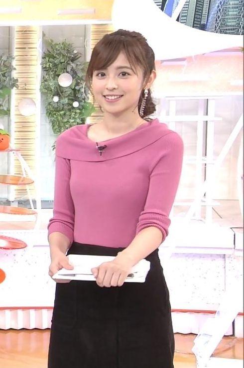 小ぶりでも形の良さそうなニットおっぱいも可愛い久慈暁子!! (20)