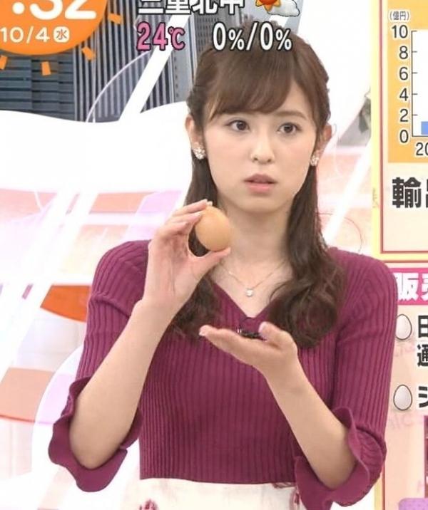 小ぶりでも形の良さそうなニットおっぱいも可愛い久慈暁子!! (14)