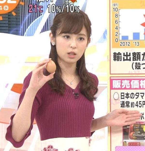 小ぶりでも形の良さそうなニットおっぱいも可愛い久慈暁子!! (15)