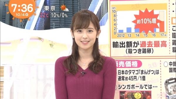 小ぶりでも形の良さそうなニットおっぱいも可愛い久慈暁子!! (6)