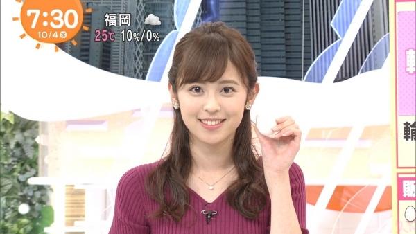 小ぶりでも形の良さそうなニットおっぱいも可愛い久慈暁子!! (13)